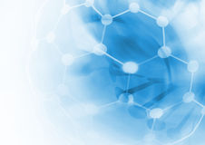 DNA molecule structure background Stock Photo