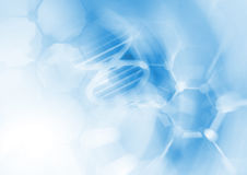 DNA molecule structure background. Abstract blur illustration Stock Image