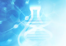 DNA molecule structure background. Stock Photos