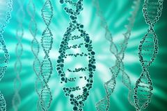 DNA molecule, structure. Close-up of concept human genome. 3d rendering Medicine concept.  stock illustration