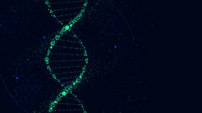 DNA molecule structure, Futuristic Sci-Fi interface, vector. Background royalty free illustration