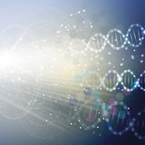DNA molecule structure on light blue background. Science vector background Stock Photography