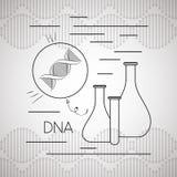 Dna molecule with tube tests. Vector illustration design royalty free illustration