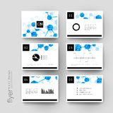 DNA molecule vector brochure template. Flyer Layout Royalty Free Stock Images