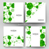 DNA molecule vector brochure template. Flyer Layout Royalty Free Stock Photography