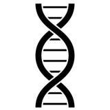 Dna molecule vector icon. Human dna helix molecule vector icon stock illustration