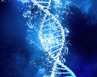 DNA molecule in water Royalty Free Stock Photos