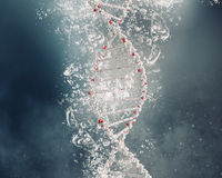 DNA molecule in water Royalty Free Stock Photography