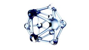 DNA molecule in water over white background. 3d Stock Photo