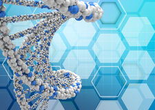 DNA molecules on an abstract background Royalty Free Stock Photography
