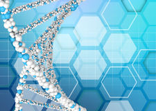 DNA molecules on an abstract background Royalty Free Stock Photo