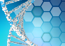 DNA molecules on an abstract background Stock Images
