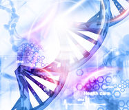 DNA molecules background Royalty Free Stock Image