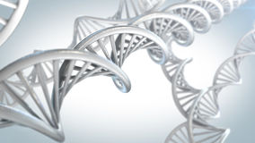DNA molecules. On the beautiful backdrop. 3D rendering stock illustration