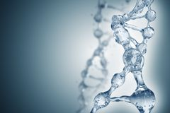 DNA molecules on the beautiful backdrop Stock Images