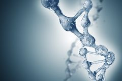 DNA molecules on the beautiful backdrop Stock Photography