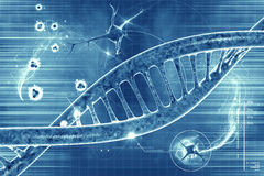 DNA molecules. On the beautiful background stock illustration