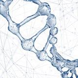 DNA molecules design illustration. 3d rendering Vector Illustration