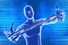 DNA molecules and men Royalty Free Stock Photo