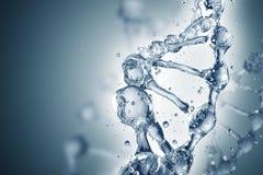 DNA-molecules op de mooie achtergrond Stock Foto's