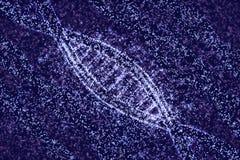 DNA molecules of stars. 3D illustration DNA of stars royalty free illustration