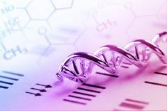 DNA, Molekül, Chemie im Laborlaborversuch Lizenzfreie Stockfotos