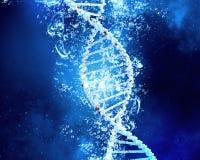 DNA-Molekül im Wasser Lizenzfreie Stockfotos