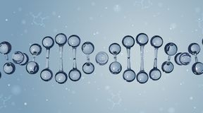 DNA-Moleküle Es kann für Leistung der Planungsarbeit notwendig sein Lizenzfreie Stockfotos