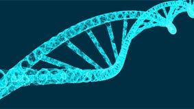 DNA-Molekülhelix, Vektorillustration für medizinisches und Wissenschaft kreativ, moderner Hintergrund vektor abbildung