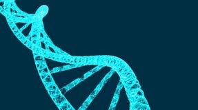 DNA-Molekülhelix, Vektorillustration für medizinisches und Wissenschaft kreativ, moderner Hintergrund stock abbildung