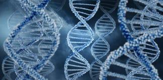 DNA-Molekülkonzept-Hintergrundillustration Stockfoto