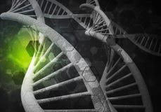 DNA molekuł tło, 3D rendering Obraz Stock