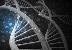 DNA molekuł tło, 3D rendering Fotografia Stock