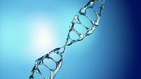 DNA molekuła w wodnej 3d ilustraci nad błękitnym tłem 4K royalty ilustracja