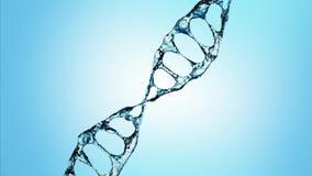 DNA molekuła w wodnej 3d ilustraci nad błękitnym tłem 4K ilustracja wektor