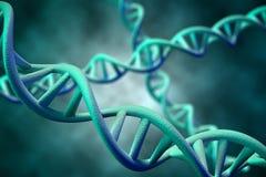 DNA molekuła, 3D rendering Obrazy Royalty Free