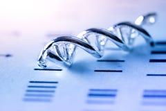DNA molekylärt labbprov Arkivfoton