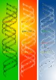 DNA Music. When music is in your blood perhaps you have Musical Deoxyribonucleic Acid Stock Photography