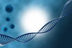 DNA nel bello fondo Fotografie Stock Libere da Diritti