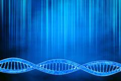 DNA nel bello fondo Fotografia Stock