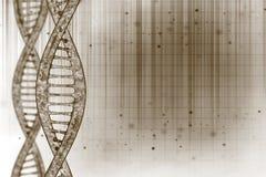 DNA nel fondo di arte Fotografie Stock Libere da Diritti
