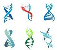 DNA och molekylar stock illustrationer