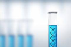 DNA-onderzoek of het testen in een laboratorium Stock Foto