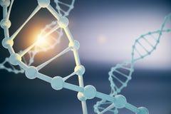 DNA op blauwe achtergrond Stock Illustratie