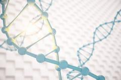 DNA op gevormde achtergrond Stock Illustratie