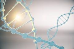 DNA op grijze achtergrond Royalty-vrije Illustratie