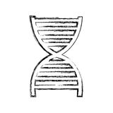 Dna particle isolated icon Royalty Free Stock Images