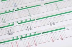 DNA-Profil - genetischer Fingerabdruck Stockbild