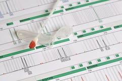 DNA-Profil - genetischer Fingerabdruck Stockfotografie