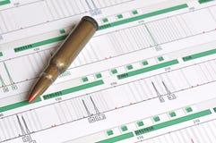 DNA-Profil - genetischer Fingerabdruck Lizenzfreies Stockbild